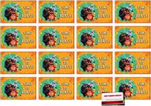 (16 Pack) Angry Birds Postcard Style Party Invitations with Envelopes, Seals and Save The Date Stickers (Plus Party Planning Checklist by Mikes Super Store)