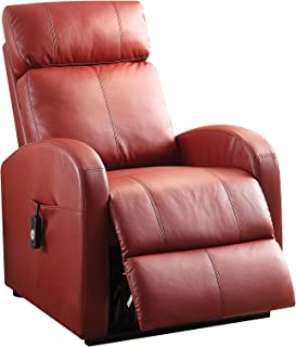 Acme Furniture 59406 Ricardo Recliner with Power Lift, Red PU