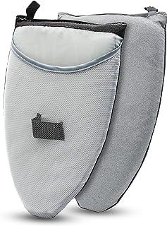 YeeHaoアイロンミトン 「2020最新タイプ」 アイロン台 ハンディ式 ハンガーにかけたまま 耐熱コーティング スチーム専用 ハンディアイロン台 襟・袖 (M, グレー)