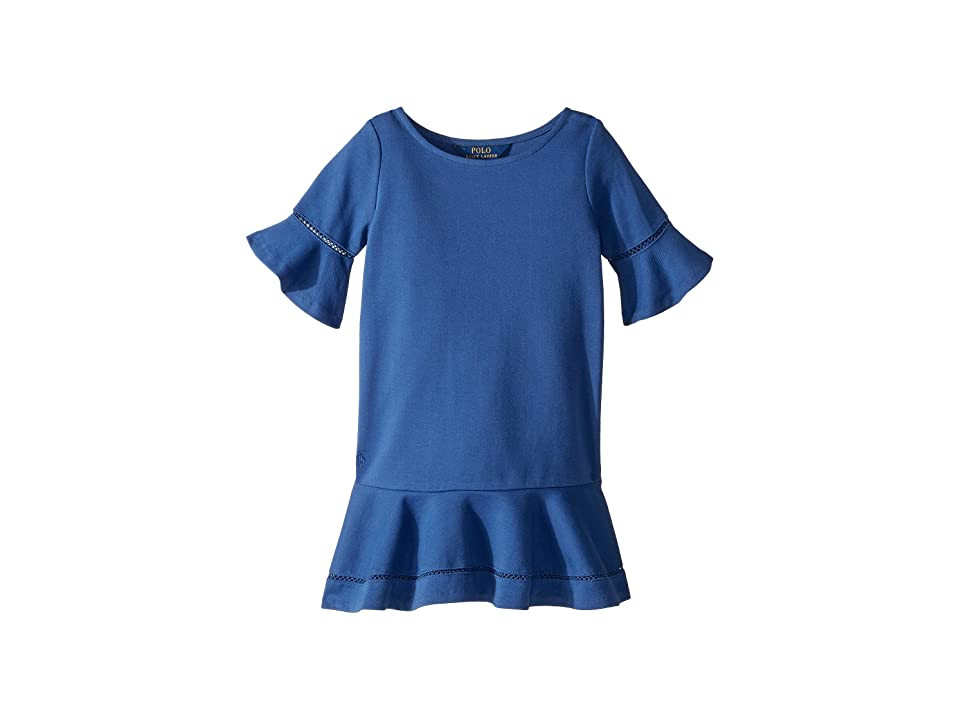 Polo Ralph Lauren Kids Ponte Inset-Lace Dress (Little Kids) (Vineyard Royal) Girl