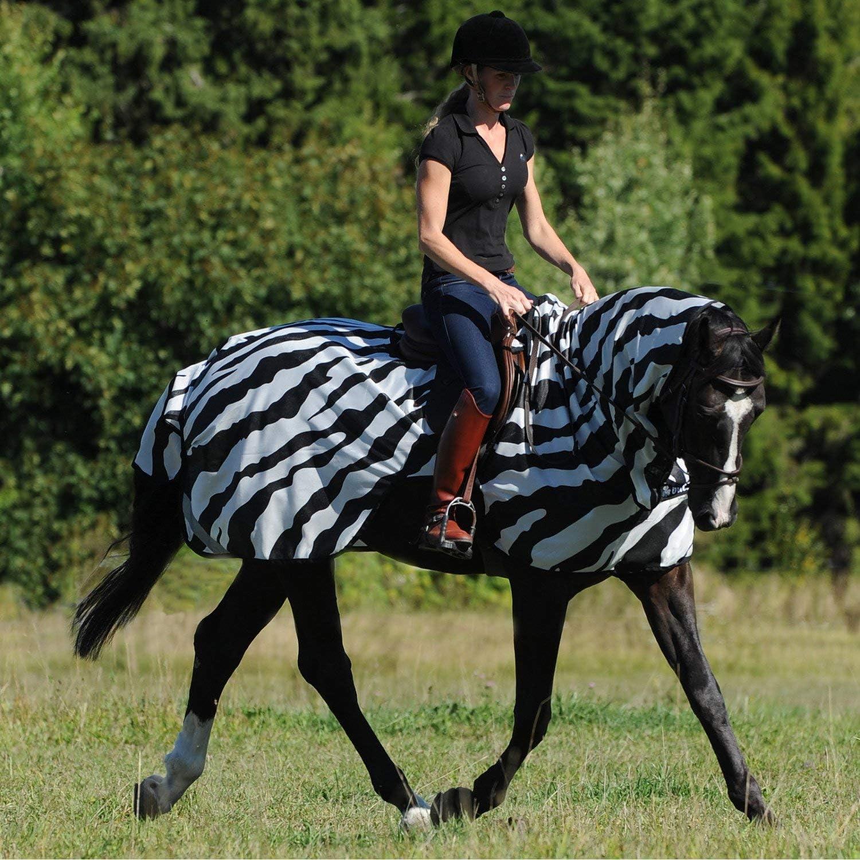 Bucas Buzz Off Zebra Riding Fly Rug Large Zebra
