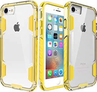 zisure iPhone 8 Case,iPhone 7 Case, [Rock Sugar] Heavy Duty Crystal Hard Clear Case Durable Shatterproof Sport Phone Cover for iPhone 8 iPhone 7 4.7 inch (Yellow)