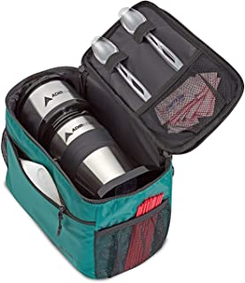 AdirChef Grab N Go Travel Pouch - Multi-Compartment for Mult-Storage Use, Perfectly Designed for Personal Coffee Maker for Travelling, Outdoor, On The Go & Camping Green