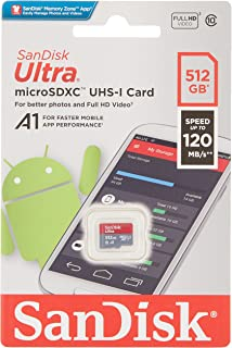 SanDisk 512GB Ultra microSDXC UHS-I Card A1 Class 10 120MB/s - SDSQUA4-512G-GN6MN