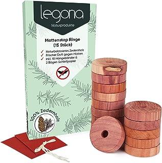 Legona® 15x Natürlicher BIO Mottenschutz aus Zedernholz / 100% Naturprodukt –..