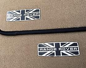 kit-car Range Rover Style – Metal Emblems for Floor Mats - Badge Logo Union Jack UK Flag – 2 pcs