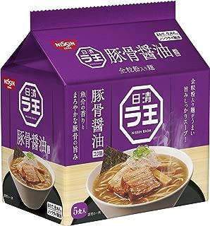 日清 ラ王 豚骨醤油 5食パック 490g ×6袋