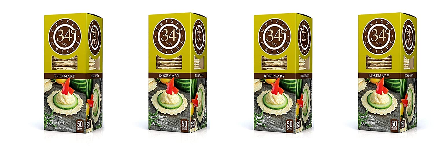 34 Ranking TOP10 Degrees Rosemary Crisps 4.5 Super beauty product restock quality top! Ounce 6 Sеt Pack Boxes of