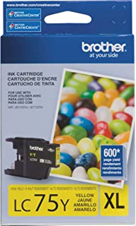 Brother Printer LC75Y High Yield (XL Series) Yellow Cartridge Ink