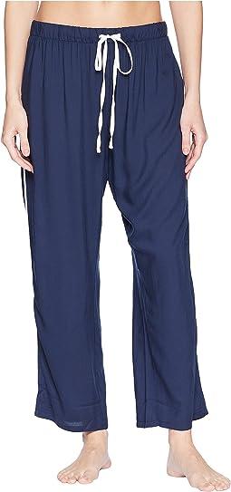 Woven Crop Pajama Pants