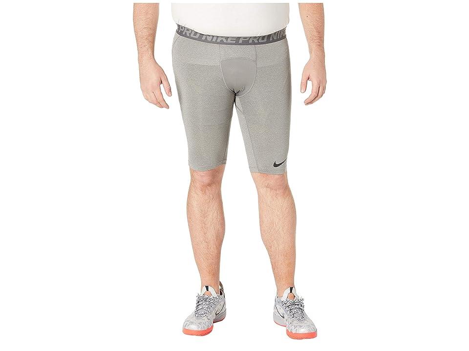 Nike Big Tall Pro 9 Training Shorts (Carbon Heather/Dark Grey/Black) Men