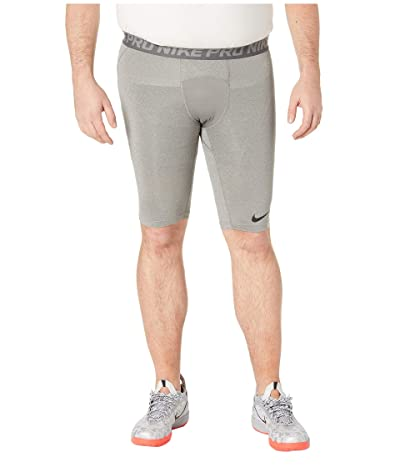 Nike Big Tall Pro 9 Training Shorts (Carbon Heather/Dark Grey/Black) Men