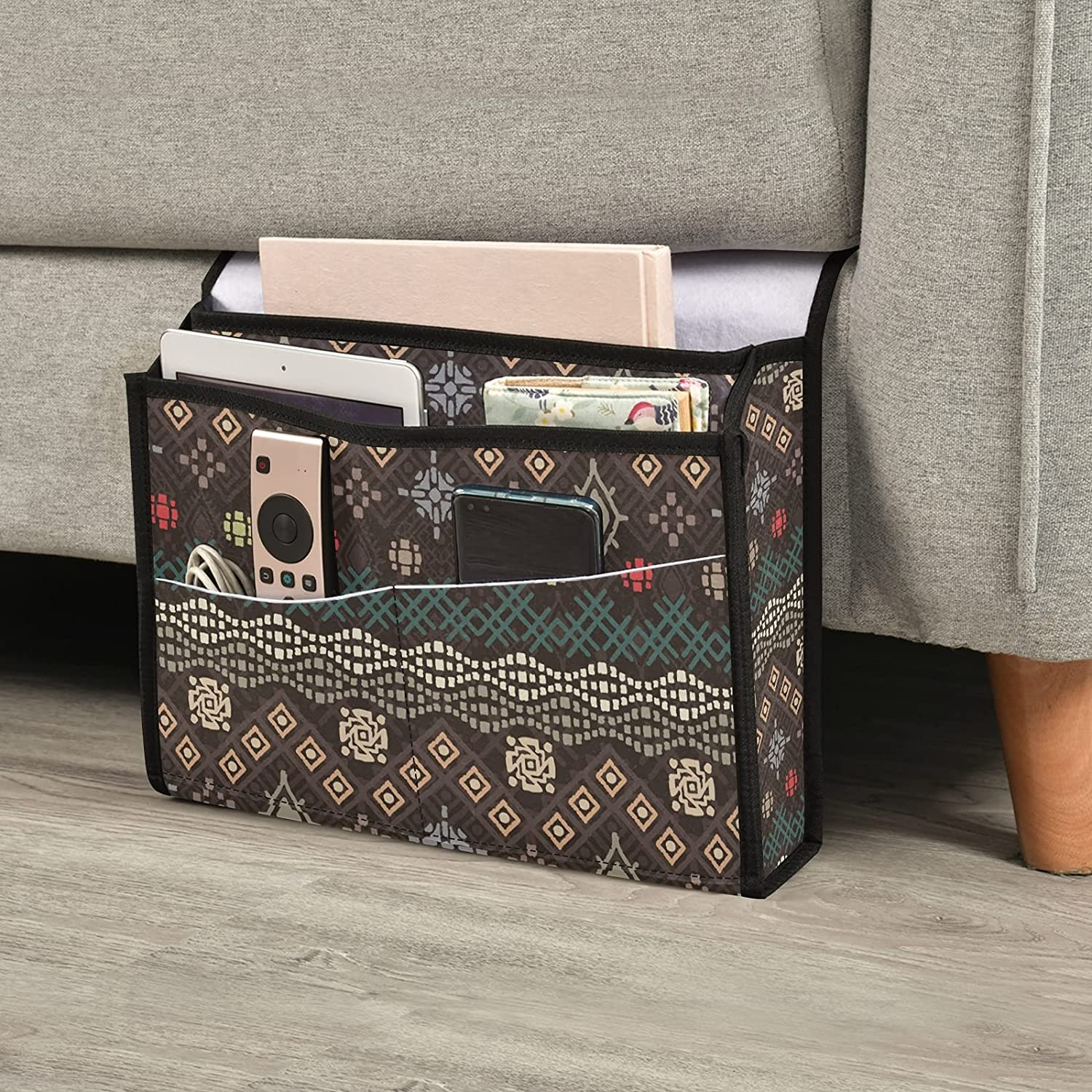JUNZAN Bedside Storage Easy-to-use Organizer Bedr OFFicial store Sofa Desk Bohemian
