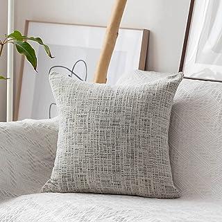 Home Brilliant Throw Pillow Cases Euro Shams Super Soft Striped Chenille Velvet Plush Large Cushion Cover for Living Room ...
