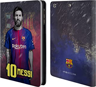 Official FC Barcelona Lionel Messi 2017/18 First Team Group 1 Leather Book Wallet Case Cover Compatible for iPad Mini 1 / Mini 2 / Mini 3