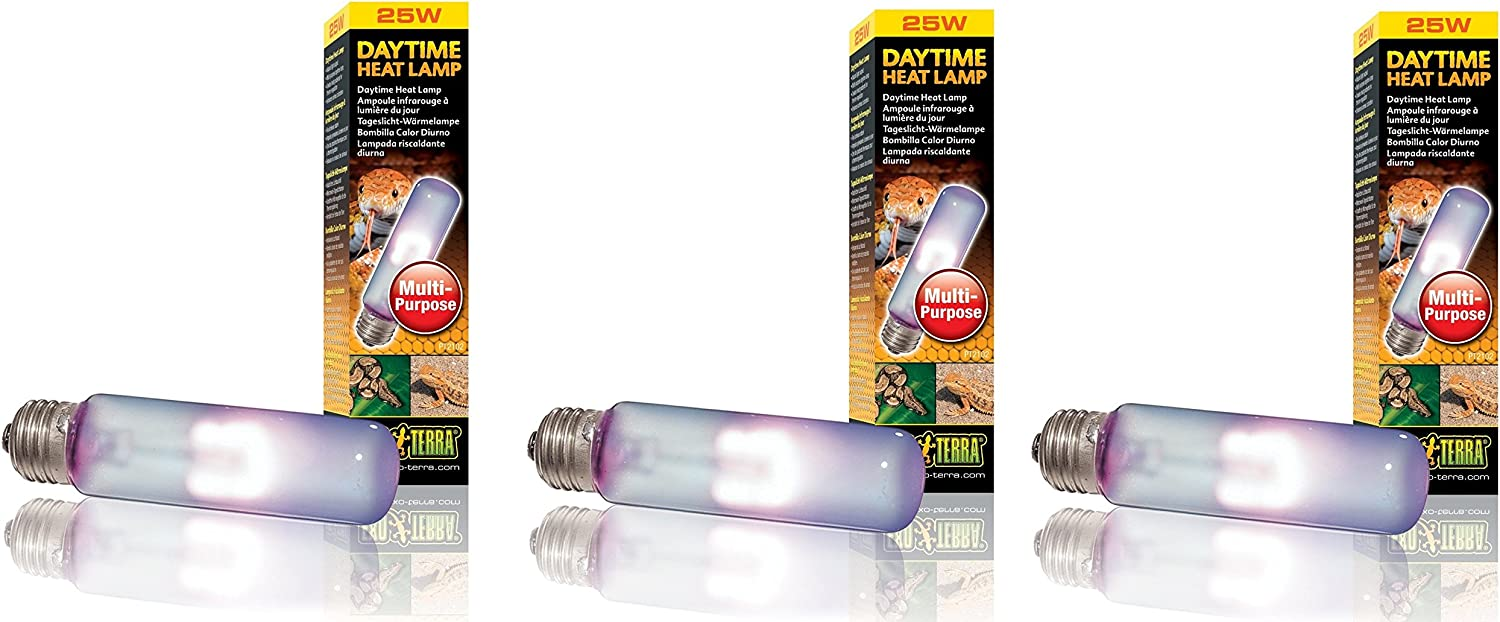 (3 Pack) Exo Terra Daytime Heat Lamps, 25 Watt