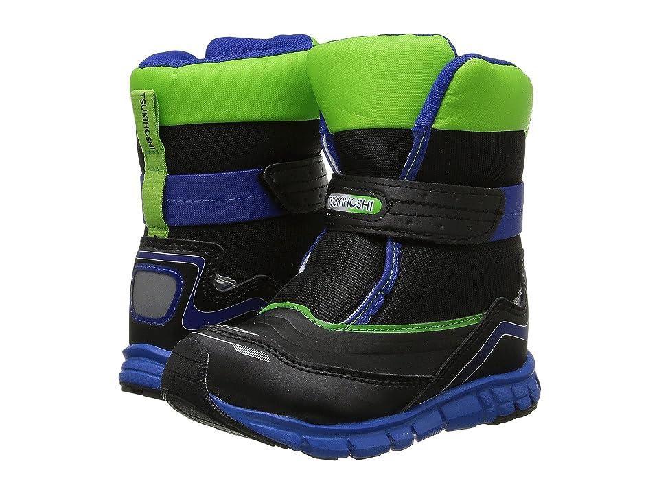 Tsukihoshi Kids Frost (Toddler/Little Kid) (Black/Green) Boys Shoes