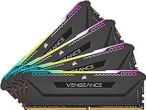 Corsair Vengeance RGB Pro SL 128GB (4x32GB) DDR4 3200 (PC4-25600) C16 1.35V Desktop Memory - Black (CMH128GX4M4E3200C16)