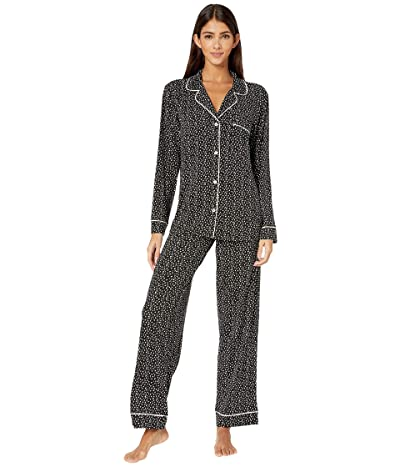 Eberjey Sleep Chic The Long Boxed Pajama Set (Felix Black/Bellini) Women