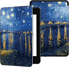 Ayotu Water-Safe Case for Kindle Paperwhite 2018 - PU Leather Smart Cover with Auto Wake/Sleep-Fits Amazon The Latest Kindle Paperwhite Leather Cover (10th Generation-2018),K10 The Starry Night Rhone