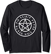 Wiccan White Pentagram Five Elements Wicca Religion LONG SLV