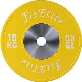 FitElite(フィットエリート)バンパープレート 2枚1組 ウェイトリフティングやクイックリフトに最適