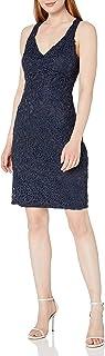 Marina Women's Metallic Lace Dress