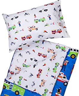 Wildkin Kids Microfiber Sleeping Bag for Boys and Girls, Includes Pillow Case and Stuff Sack, Perfect Size for Slumber Parties, Camping, and Overnight Travel, Patterns Coordinate with Our Duffel Bags