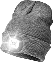 Etsfmoa Unisex LED Beanie Hat with Light, Gift for Men and Women USB Rechargeable Winter..