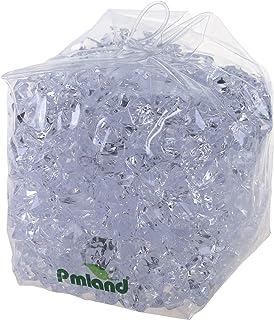 PMLAND Clear Acrylic Ice Rocks Crystals Gems - 1 Inch Length 3 lbs Bulk Bag for Vase Filler Table Scatter Party Wedding Ar...