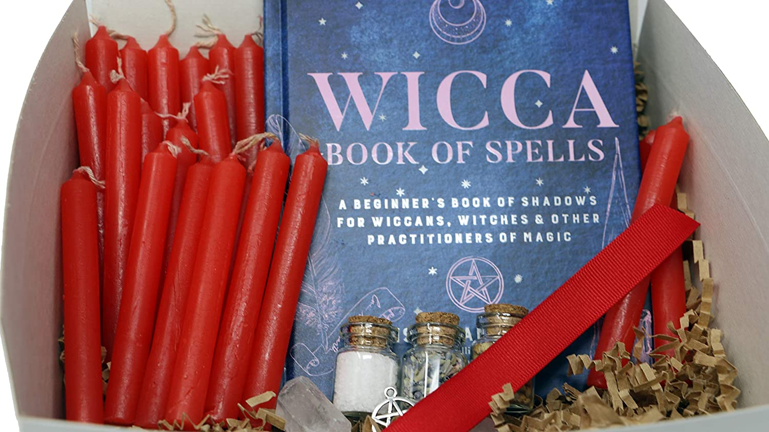 Max 51% OFF PINE PENTAGRAM Wiccan Witch Cheap sale Set Red for Beginners