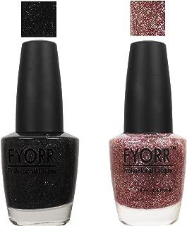FYORR Black To Pink Shine Collection Nail Polish - Set of 2 (15 Ml Each)