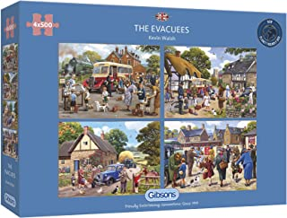 The Evacuees 4x500 Piece Jigsaw Puzzle   Multi-Puzzle   Sustainable Puzzle for Adults   Premium 100% Recycled Board   Grea...
