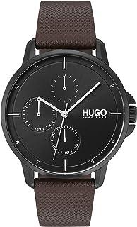 Hugo Boss Men'S Black Dial Brown Leather Watch - 1530024