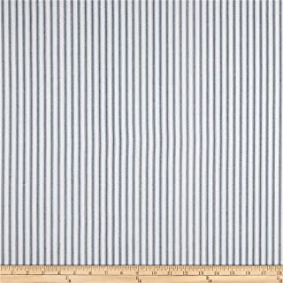 Premier Prints 0432764 Classic Ticking Stripe Premier Navy Fabric by the Yard
