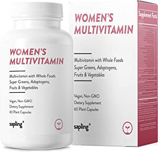 Multivitamin for Women Daily Supplement - with Whole Food Vitamins, Plant-Based, Organic Fruits and Vegetables. Vitamin A,...