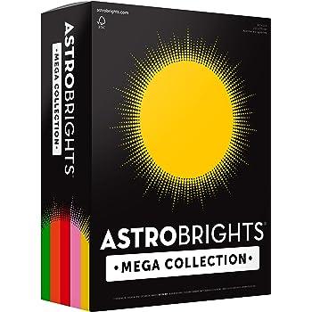 "Astrobrights Mega Collection Colored Paper, 8 ½ x 11, 24 lb/89 gsm, ""Retro"" 5-Color Assortment, 625 Ct. (91685)""Amazon Exclusive"" - More Sheets!"