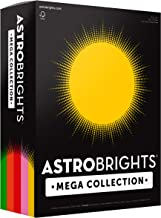 "Astrobrights Mega Collection, Colored Cardstock,""Retro"" 5-Color Assortment, 320 Sheets, 65 lb/176 gsm, 8.5"" x 11"" (91688)"