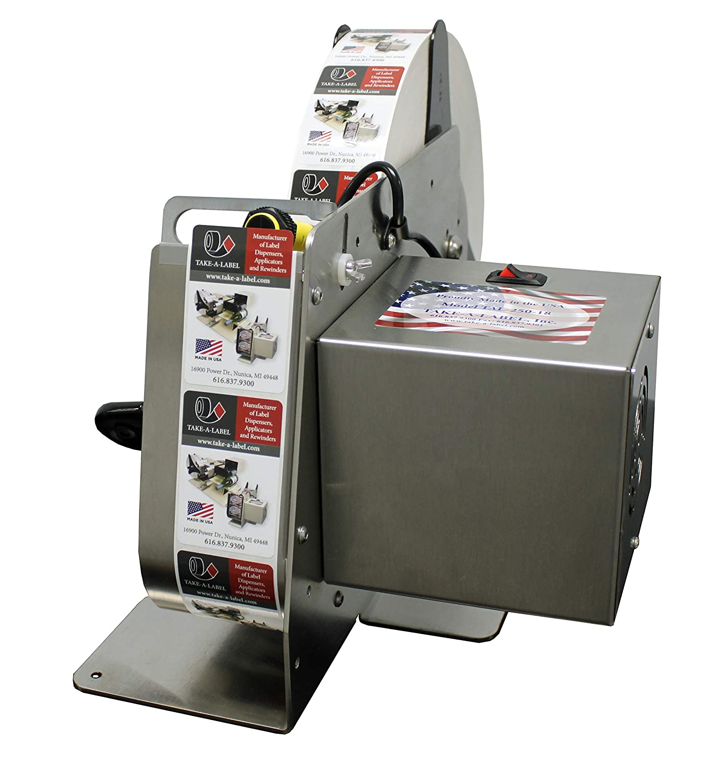 TAL-250 Stainless Label Dispenser with Photo Cell