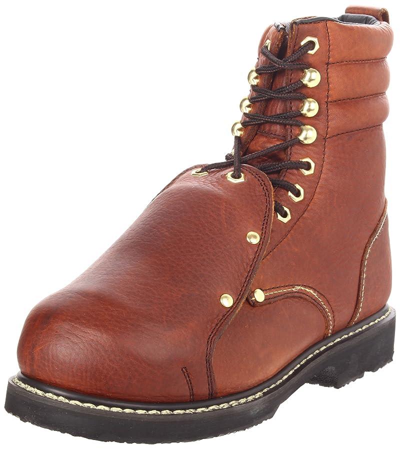 赤道新鮮な好奇心盛Golden Retriever Mens pitstop Steel toe Lace Up Safety Shoes