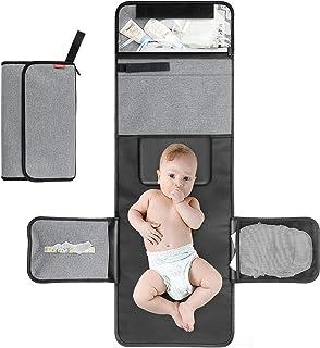 ALLONWAY Bärbart skötunderlag, hopfällbart babyskötunderlägg för resor med stoppning, linda in när du reser skötbord, tvät...