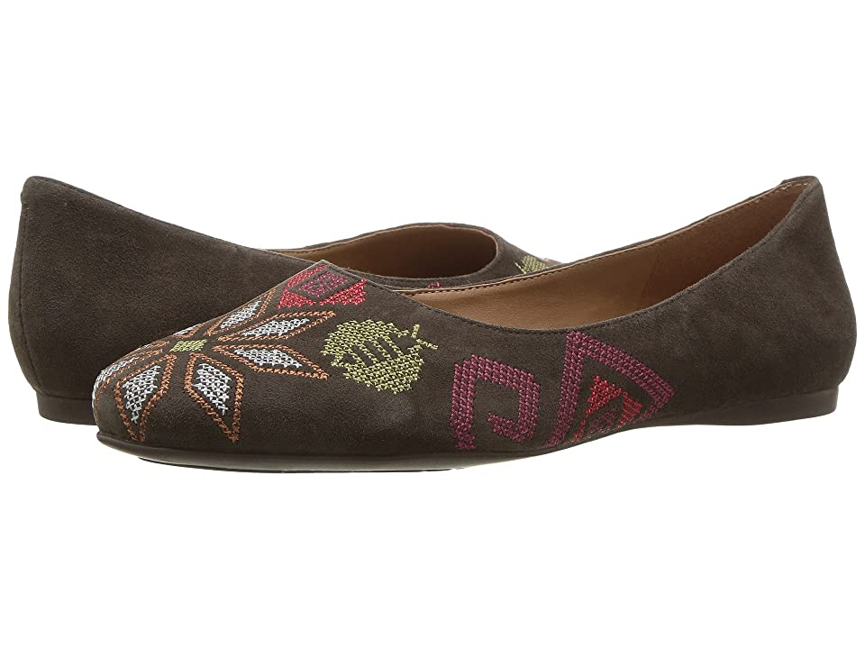 French Sole Yasmin (Cafe Brown Suede) Women