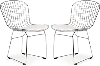 Poly and Bark Morph Side Chair in White (Set of 2)