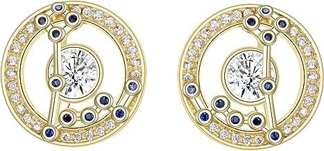 FANZE Women 925 Sterling Sliver CZ Horoscope Zodiac 12 Constellation Stud Earrings Golden Birthday Gift Astrology Jewerly