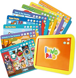 BEST LEARNING INNO PAD Smart Fun Lessons - Educational Tablet Toy to Learn Alphabet, Numbers, Colors, Shapes, Animals, Tra...
