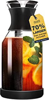 Cold Brew Coffee Maker & Iced Tea Pitcher Fruit Infuser - 1.7 L Infused Ice Coldbrew Kit with Filter - Black Perfect Pitch...