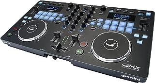 Gemini GMX سری صوتی حرفه ای DJ چند منظوره نرم افزار USB ، MP3 ، WAV و DJ نرم افزار کنترل رسانه با سازگار با لمس بالا چرخ با صدای بلند