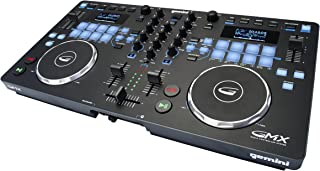 Gemini GMX Series Professional Audio DJ Multi-Format USB, MP3, WAV and DJ Software Compatible Media Controller System with Touch-Sensitive High-Res Jog Wheels