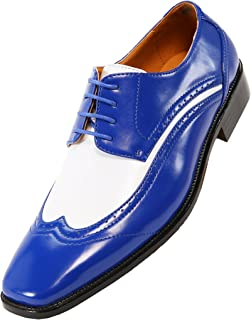 Amali The Original Mens Two-Tone Wingtip Oxford Dress Shoe Style P1056