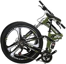27.5 21 Speed G7 Folding Mountain Bike Orange Dual Disc Brake